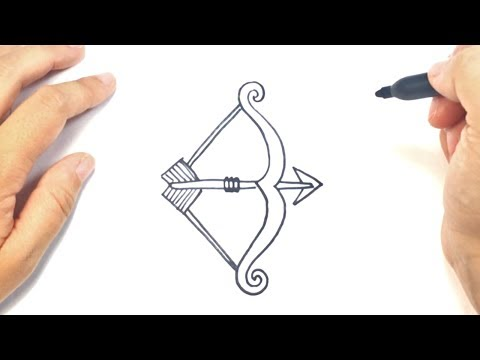 how to draw a bow and arrow step by step