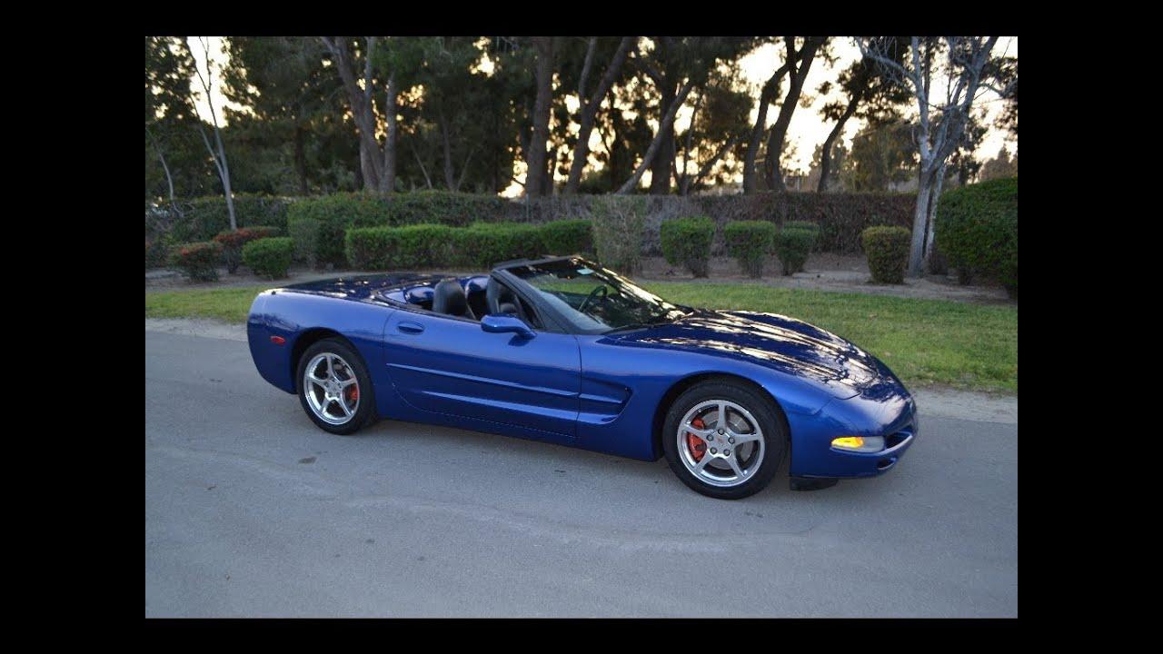 Sold 2002 Corvette Convertible Electron Blue