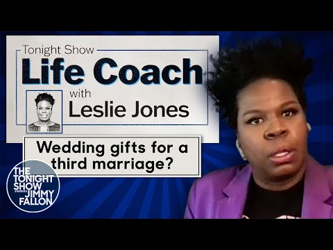 Leslie Jones' Advice on Wedding Gifts for a Third Marriage   The Tonight Show Starring Jimmy Fallon