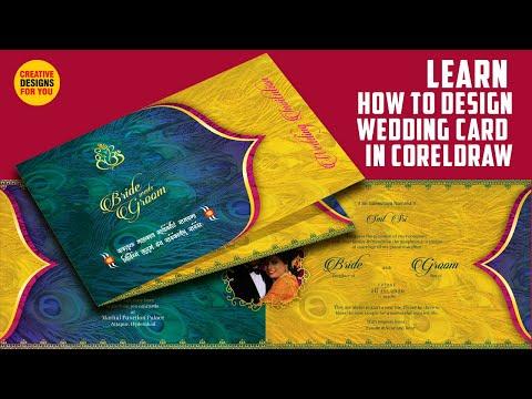 Learn How to design wedding card in Coreldraw   Wedding Card Design Tutorial   Easy to learn