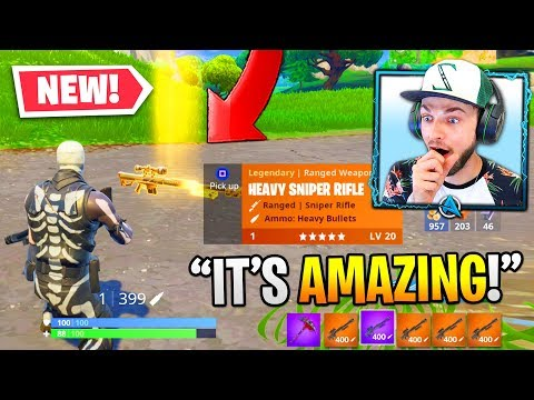 Fortnite's *NEW* HEAVY SNIPER is OVERPOWERED!