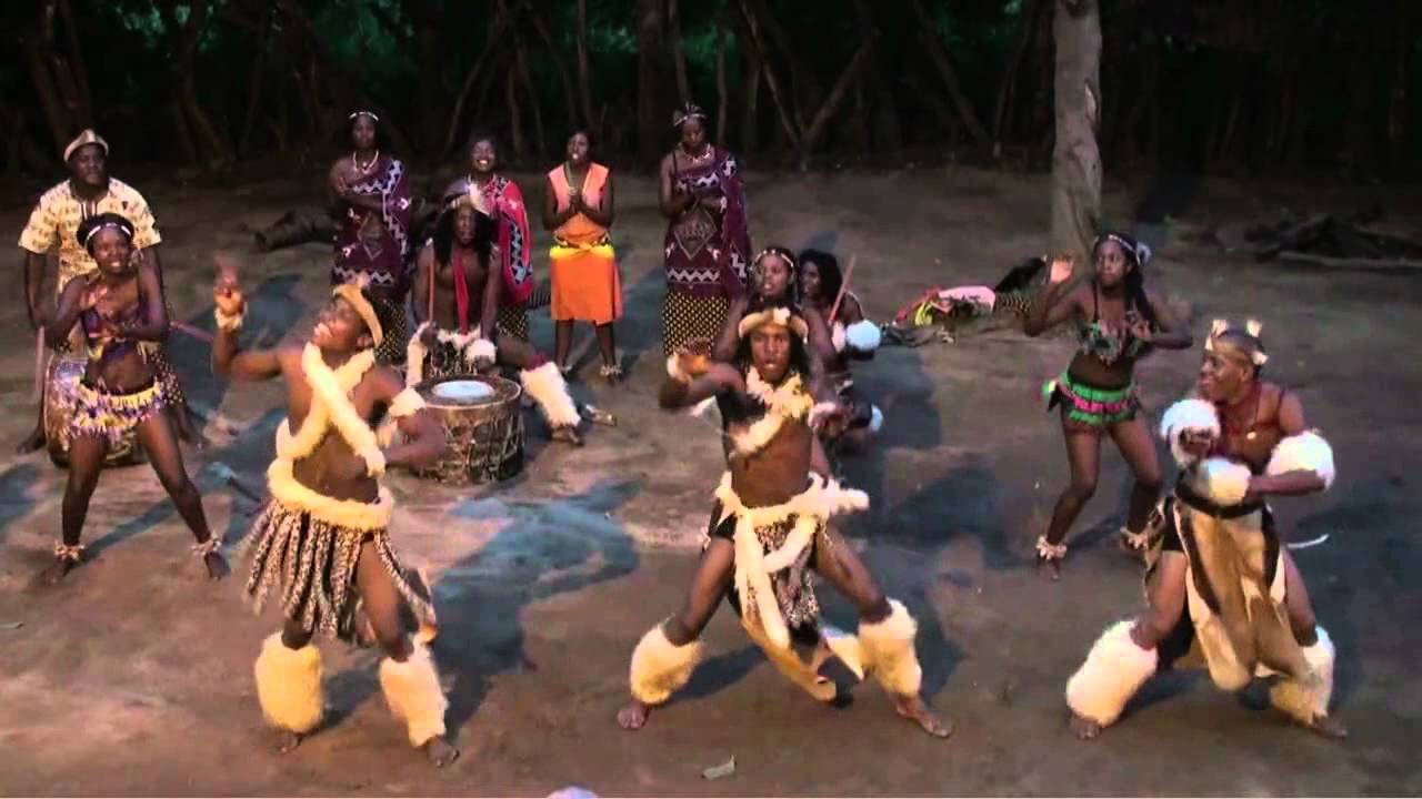 Christmas In Africa Traditions.Traditional Zulu Dances In The Kruger National Park South Africa