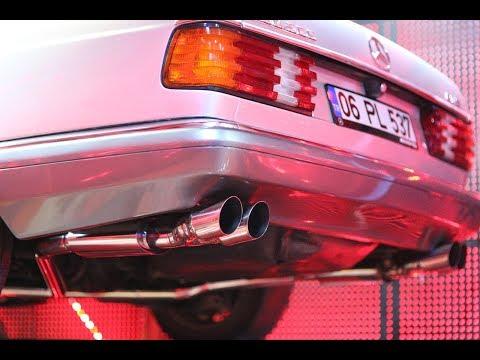 Mercedes-Benz W126 500 SEC 5.0i V8, Egzoz Sesi