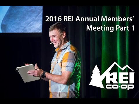 2016 REI Annual Members' Meeting, Part 1