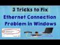 SOLVED Fix Ethernet Internet Connection Problem In Windows 10 Ethernet Connection Problem mp3