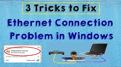 SOLVED Fix Ethernet Internet Connection Problem in Windows 10 (Ethernet Connection Problem)