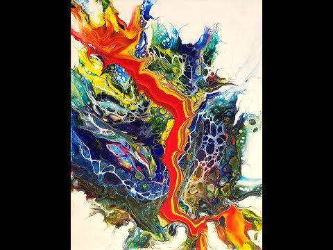 (67) How to Seal Acrylic Pours w/ Varnish & dirty pour flip drag using Owatrol & Paint w/Sandra Lett