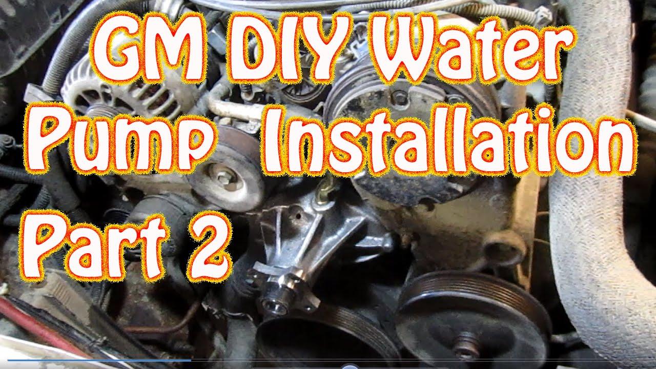 DIY Chevy Silverado 57L Vortec Water Pump Installation How to Replace a GMC Water Pump  YouTube