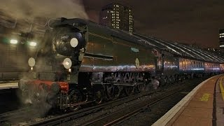 SR Class 4-6-2 No 34067 Tangmere - Christmas Capital Express - Waterloo Station - 23 Nov 2013