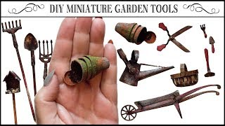 🌿How to Make Miniature Garden Accessories🌹