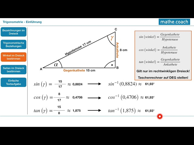 Trigonometrie Teil 1