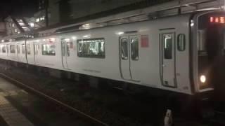 817系・普通 夜の南福岡駅を発車 JR九州 鹿児島本線 2017年10月31日