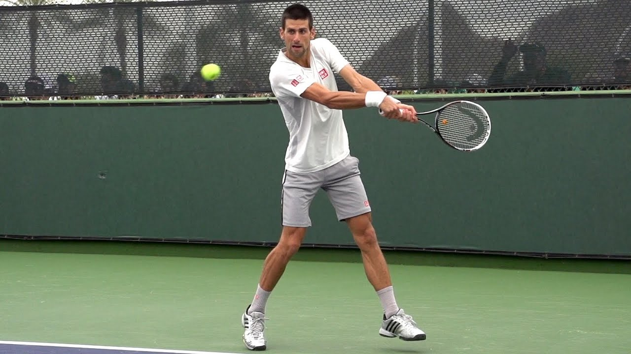 Novak Djokovic Forehand and Backhand Return of Serve in Super Slow Motion -  Indian Wells 2013 85d3677442a91
