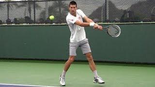 Novak Djokovic Forehand and Backhand Return of Serve in Super Slow Motion - Indian Wells 2013