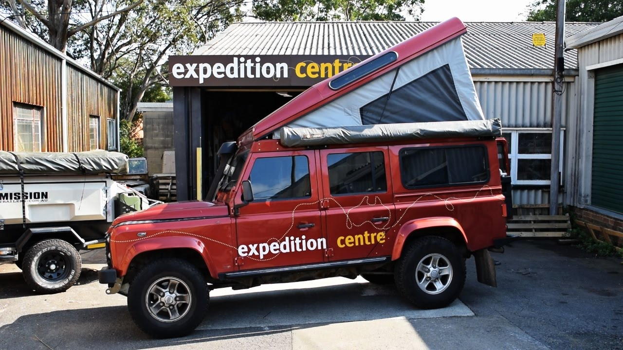 Land Rover Defender Pop Top Camper Conversion Youtube