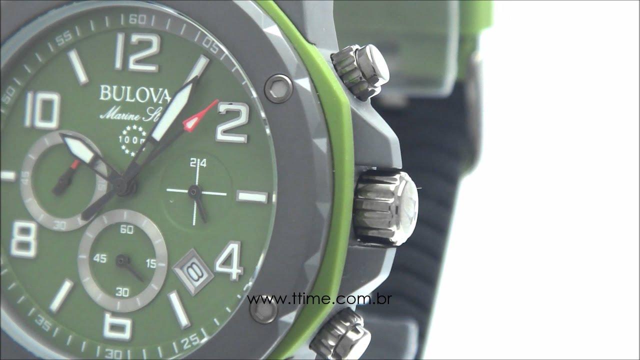 Relógio Bulova Marine Star WB31783G - YouTube