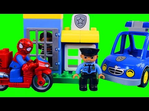 Thumbnail: Lego duplo Spider-man Bike Workshop And Duplo My First Police Set