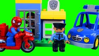 Lego duplo Spider-man Bike Workshop And Duplo My First Police Set thumbnail