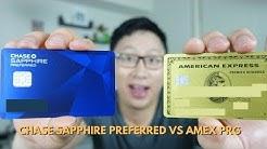 Chase Sapphire Preferred vs. Amex Premier Rewards Gold