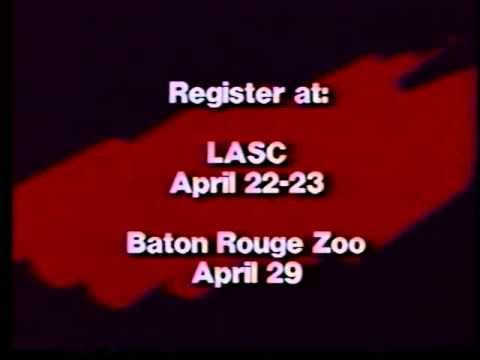 Cablevision Paint the Town Rouge ad 1989--Baton Rouge tourism