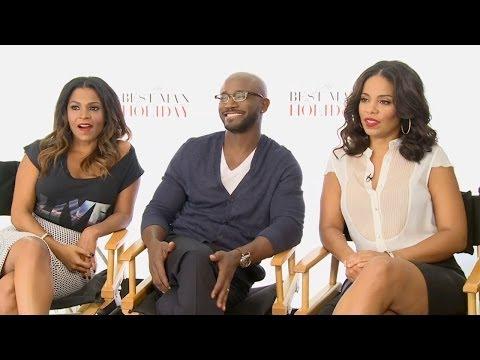 Nia Long, Taye Diggs & Sanaa Lathan - The Best Man Holiday Interview HD