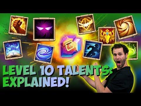New Level 10 Talents Explained Castle Clash