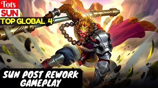 Sun Post Rework Gameplay [Top Global 4 Sun] | Tots Sun Gameplay And Build Mobile Legends