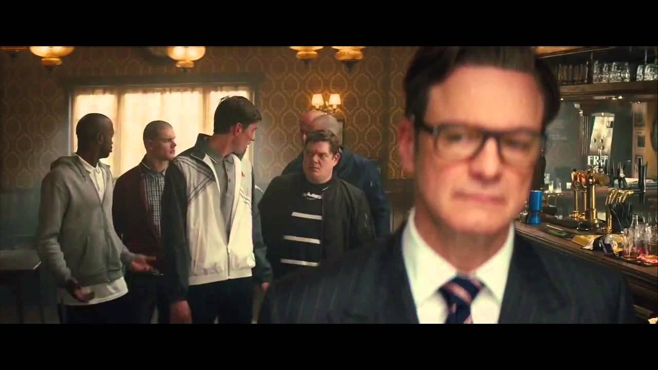 Kingsman The Secret Service Q A With: Kingsman: The Secret Service- Bar Scene