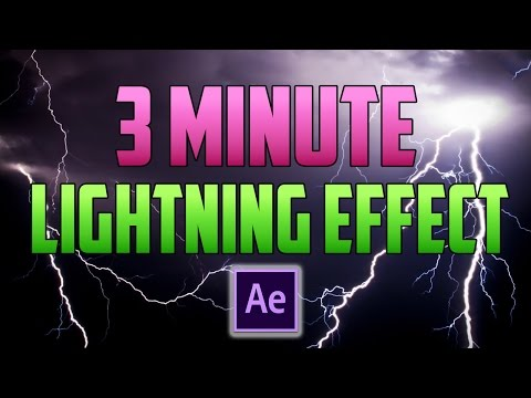 After Effects CC : How to Create a Lightning Strike Effect