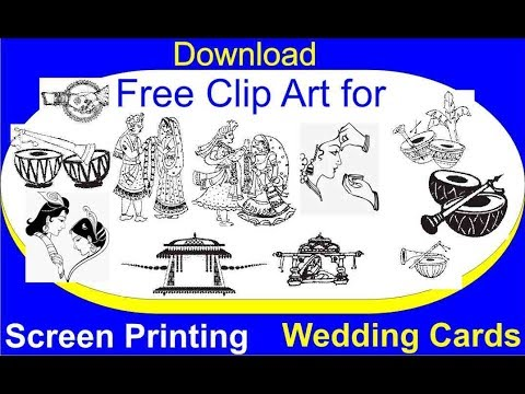 download free clip arts for screen printing wedding card youtube
