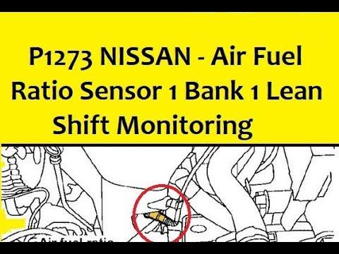 P1273 Nissan Air Fuel Ratio Sensor 1 Bank 1 Lean Shift