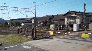 山陽本線・吉永駅構内【閑谷道踏切】