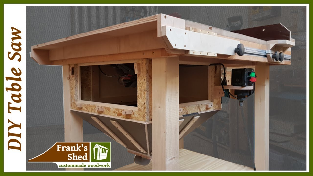DIY How To Make A Homemade Table Saw 2016 Build