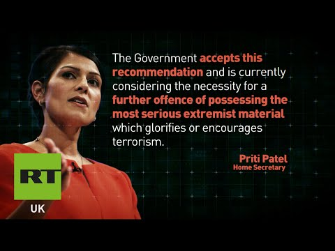 Home Secretary Priti Patel considers outlawing viewing of 'extremist material'