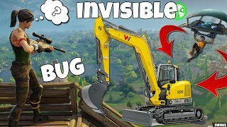 NEW BUG/GLITCH GRU INVISIBILE! (Fixed)- Fortnite Battle Royale 2018 ☢Tew☢