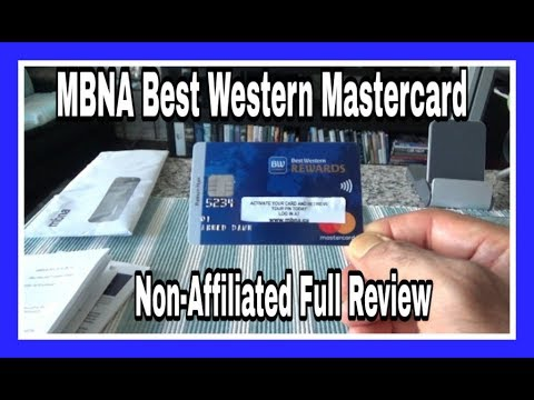 MBNA Best Western MasterCard | Non-Affiliated | Full Unboxing & Review