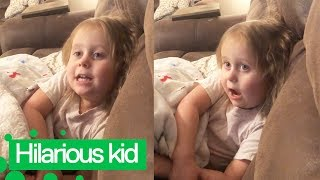 Three-year-old Girl Can't Go to Bed for a Hilarious Reason