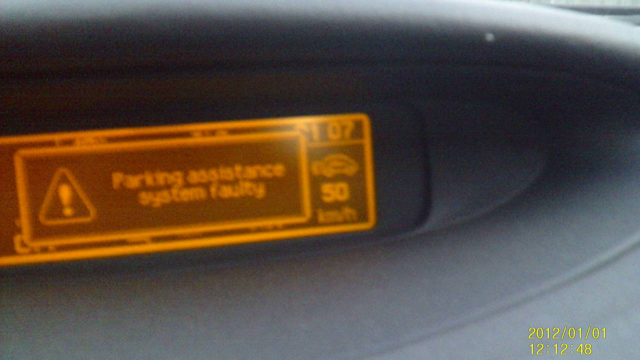 Parking Sensor Fault Youtube Citroen C3 Bsi Wiring Diagram