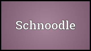 Schnoodle Meaning