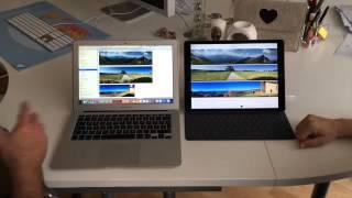iPad Pro Vergleich mit Mac Book Air amac-buch Verlag