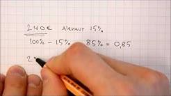 Alennukset ja korotukset laskimella