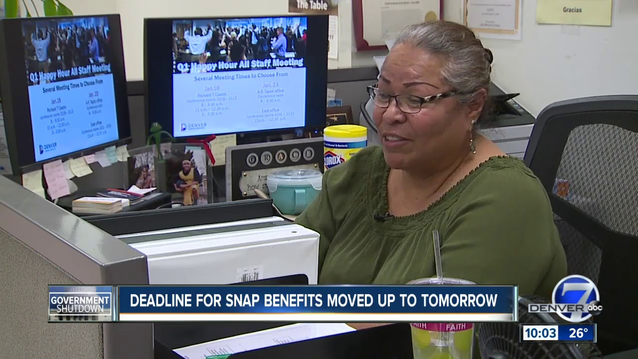 About 220,000 In Colorado May Lose Food Stamps Due Too Shutdown 01/17/2019