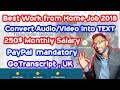 Transcription Jobs Online (Audio/Video to Text) $250 Monthly Salary Guaranteed - Work from Home Jobs