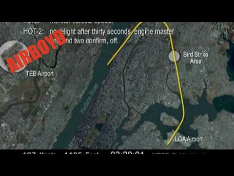 NTSB Animation Flight Hudson River Landing US Airways YouTube - Us airways direct flights map
