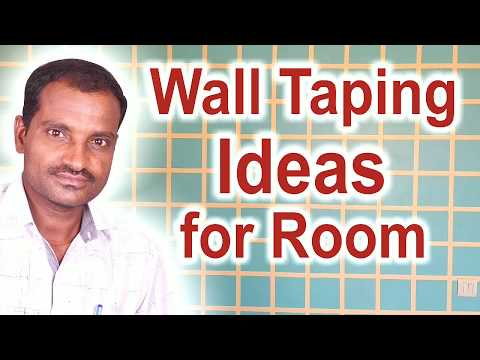 Paint ideas for living room - wall taping - in Mumbai