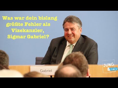 Was war dein bisher größte Fehler als Vizekanzler, Sigmar Gabriel?