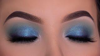 Blue Holiday Eye Makeup Tutorial