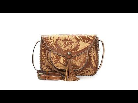 Patricia Nash Beaumont Carved Leather Shoulder Bag