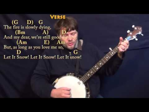 Let It Snow! (CHRISTMAS) Banjo Cover Lesson in G with Chords/Lyrics