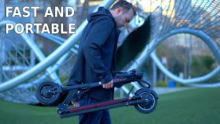 Hiley Maxspeed X9 Electric Scooter Review and Ride | A fast and compact scooter